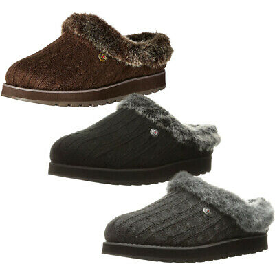 Skechers Womens/Ladies Keepsakes - Ice Angel Fluffy Trim Mule Slippers • 38.61£