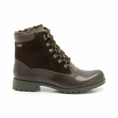 Clarks Neeve Lily Dark Brown Leather Gore-Tex Ladies Walking Boots - 4 / 4.5 NEW • 40£