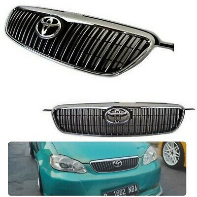 $110 • Buy Fits To Corolla 03-08 Altis Edition Grill JDM Chrome / Black