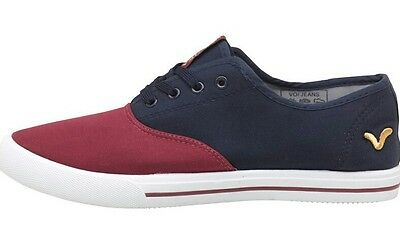 VOI JEANS CANVAS PUMPS TRAINERS Bushnell Shoes Navy Burgundy - UK 6 - RRP £25! • 6.95£