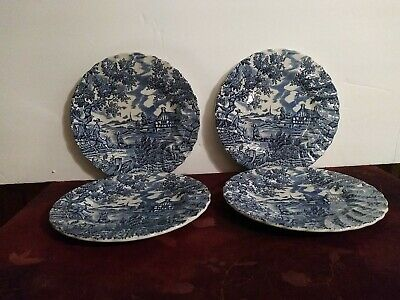 £35.48 • Buy Vintage 'The Hunter' By Myott Hand Engraved Set 4 Bread Plates Made In England