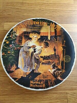 $ CDN11.66 • Buy Norman Rockwell Collector Plate Christmas 1979 Somebody's Up There Knowles