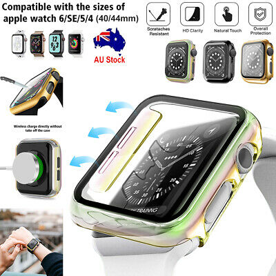 AU12.92 • Buy IWatch 40/44mm Glass Screen Protector Cover Case For Apple Watch Series 6/5/4/SE