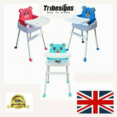 Travel Portable Baby High Chair Infant Child Foldable Toddler Feeding Seat 4 In1 • 35.64£