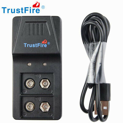 £10.99 • Buy TrustFire 9VBC01 USB Charger For Rechargeable 9v Lithium Li-ion Ni-MH Battery UK