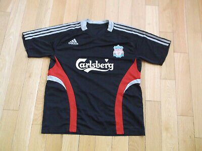 Liverpool F.C LFC 2008/2009  Black Adidas Training T-Shirt, SIZE UK XL • 16.99£