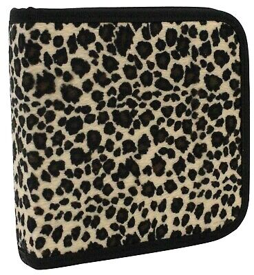 110 Cd DVD Storage Wallet Car Disc Holder Carry Case Sleeve Velvet Animal Print • 7.99£