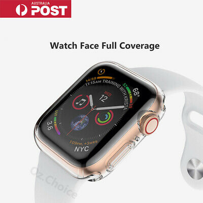 AU3.95 • Buy For IWatch Apple Watch SE 6 5 4 Clear TPU Soft Case Full Screen Cover 44mm/ 40mm