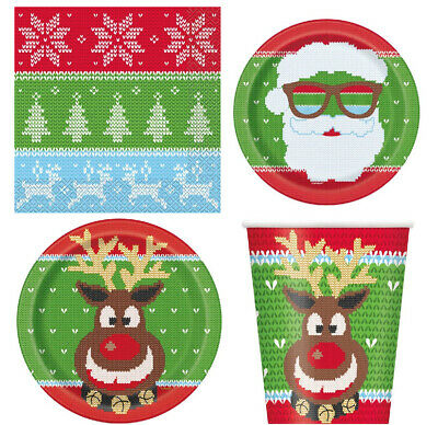 £2.99 • Buy Christmas Party Tableware Xmas Plastic Table Cover Paper Plates Cups Napkins