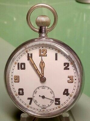 WW2 British Military FHF Caliber 2144  GSTP  Pocket Watch Fully Serviced Good Co • 87£