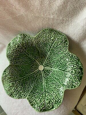 £35.46 • Buy Portugal Majolica Cabbage 5 Leaf LARGE Serving/ Salad Bowl 12.5""
