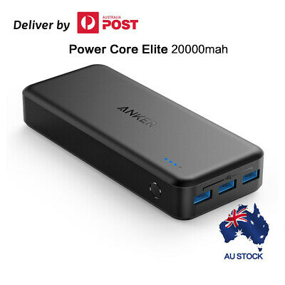 AU62.95 • Buy Anker PowerCore 20000 Elite 20000mah Power Bank, Portable Battery, Dual Input