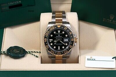 $ CDN20251.77 • Buy Rolex GMT-Master II 18K/SS Discontinued August 2020 - Box/Papers/Card – 116713LN