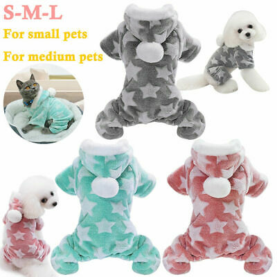 Cute Dog Clothes Jumpsuit Warm Winter Puppy Cat Coat Pet Clothing Outfit • 4.68£