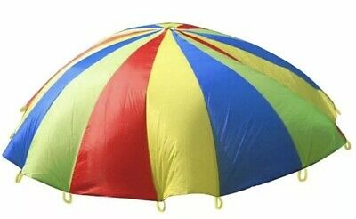 Kids Play Parachute Children Rainbow Outdoor Game Exercise Sport Toy 3.6M • 15£