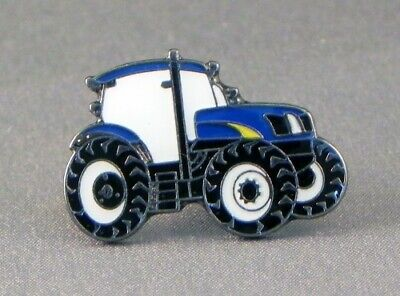 Tractor Pin Badge. Blue Version. New Holland. Metal. Enamel. Farmer. Farming • 1.50£