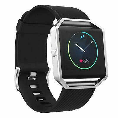 $ CDN8.82 • Buy Black Silicone Band Strap For Fitbit BLAZE Replacement Large Size