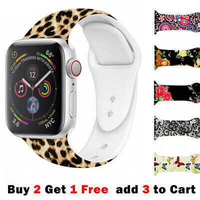 AU9.99 • Buy Printed Pattern Silicone Band For Apple Watch Series 6 5 4 3 2 1 SE Sports 40 44