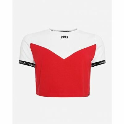 Liverpool FC Womens YNWA Red/White Cropped T-Shirt LFC Official • 20£