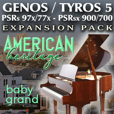 £7.79 • Buy American Heritage BABY GRAND PIANO Expansion Pack For Yamaha Genos, Tyros, PSR