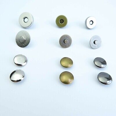 Magnetic Snaps Antique Brass Nickel 18;14 Mm Bag Closures Fasteners Button Clasp • 3£