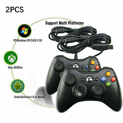 AU44.99 • Buy 🔥 2X Wired Game Controller Gamepad For XBOX 360 Console Joypad Windows PC Black
