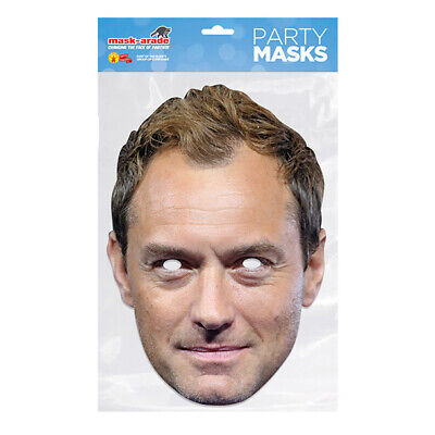 Jude Law CELEBRITY PARTY MASKS MASK FUNNY STAG CARDBOARD FACE  • 2.99£