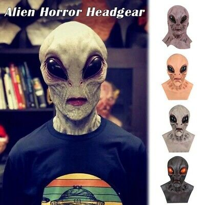 Scary Silicone Face Alien UFO Horror Latex For Halloween Party Prop UK • 12.95£