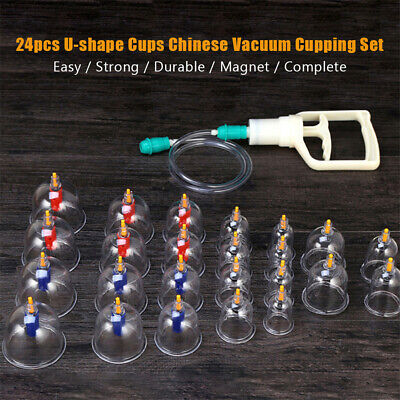 £12.67 • Buy 24pcs Anti Cellulite Massage Vacuum Cupping Cup With Suction Pump Kit Set