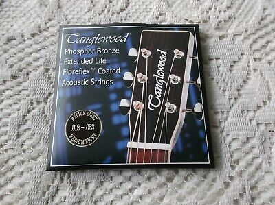 $ CDN11.31 • Buy (01) Set  Tanglewood  Acoustic Phosphor Bronze Guitar Fibrefex Coated .12/53
