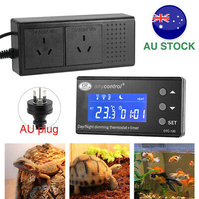 AU46.44 • Buy LCD Digital PID Repile Temperature Control Day/Night Dimming Thermostat Timer