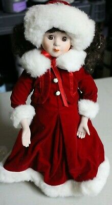 $ CDN39.20 • Buy Victorian Porcelain Dolls - Set Of 2 - Christmas Dolls With Stands