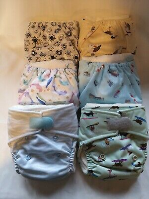 Baba Boo Newborn Washable Reuseable Cloth Nappies & Bags & Liners  • 20£