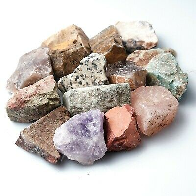 Rough Mixed Crystals Various Mineral Raw Natural Stone Chakra Reiki Gift X 250g • 6.99£