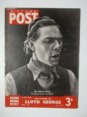 Vintage Picture Post Magazine - 2 March 1940 - Vol. 6 No. 9 • 4.99£