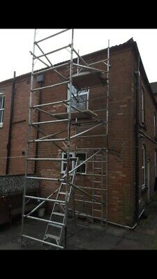 Euro Tower  Scaffold Tower 8' X 4'                           NO Boards Or Wheels • 400£