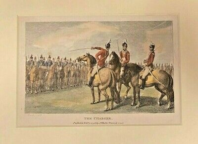 £34.69 • Buy J Wheble Samuel Howitt Equestrian Horse The Charger Engraving Warwick Court 1798