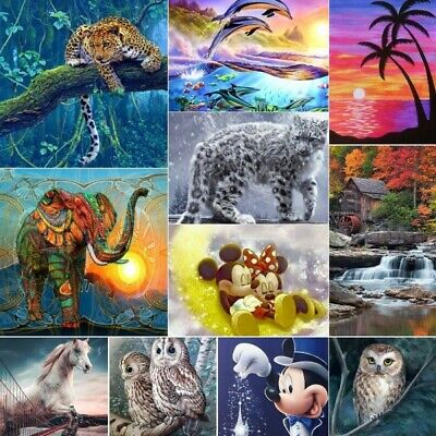 AU12.99 • Buy 5D Full Drill Diamond Painting Embroidery Cross Stitch Mural Home Xmas Gifts