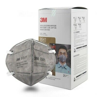 AU99.99 • Buy 25PC 3M 9541 KN95 N95 P2 Activated Carbon Particulate Respirator Face Mask