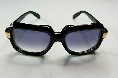 $375 • Buy Cazal Legends Mod. 607 Col. 001 Gloss Black Gold Sunglasses Made In Germany