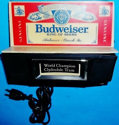 $ CDN60.45 • Buy Vintage Budweiser Beer World Champion Clydesdale Team Counter Bar Sign Light