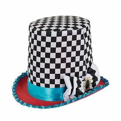 Stovepipe Mad Hatter Chequered Hat • 8.99£