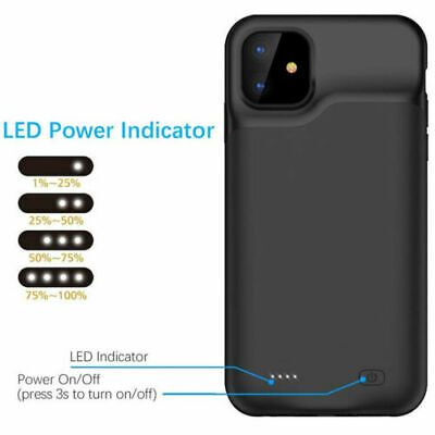 External Battery Case For IPhone 11 11 Pro Max 6600mAh Best Quality Black Pink • 24.99£