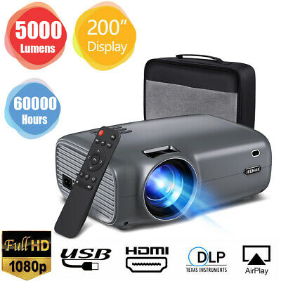 AU149.51 • Buy 1080P FHD Portable Mini Projector Video Movie Home Outdoor Theater Cinema LED AU