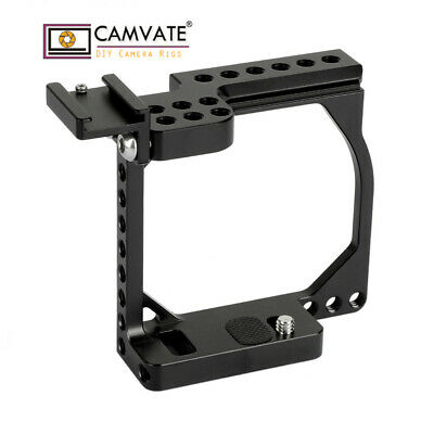 $ CDN57.40 • Buy CAMVATE Camera Cage Rig Shoe Mount For Sony A6000 A6500 Canon EOS M M10 Aluminum