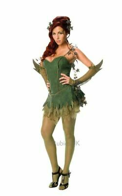 £22.99 • Buy Poison Ivy Ladies Fancy Dress Costume Party Outfit Adult Licensed Batman Movie