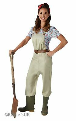Land Girl Costume 1930s 1940s Ladies Uniform Fancy Dress Outfit Military World W • 18.99£