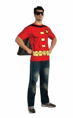£24.99 • Buy Adult Costume Mens Costumes = Batman Robin T Shirt Mens Fancy Party Outfit