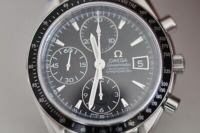 Omega Speedmaster Automatic Watch Black Dial With Date Chronograph 40mm 3210.50 • 1,220£