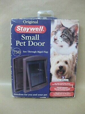 Staywell Small Pet Door ~ Cat Flap / Dog ~ Brown • 12.99£